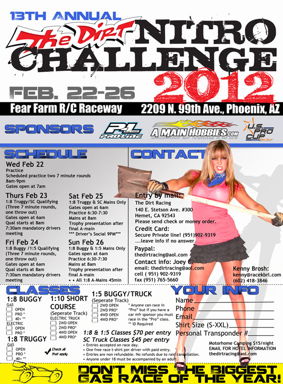 2012 The Dirt Nitro Challenge – Fear Farm – 2/22 thru 2/26 - Phoenix, AZ