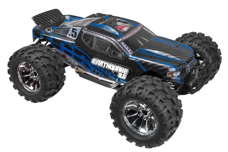 Redcat Racing Earthquake 3.5 Nitro RC Monster Truck New Body Blue Image