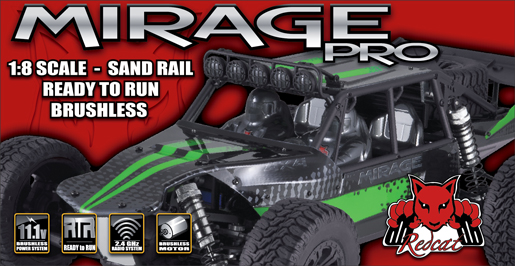 Redcat Racing Mirage: Brushless R/C 1/8 Scale Sand Rail