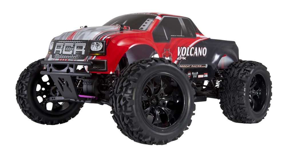 4x4 brushless rc trucks with Redcat Racing Volcano Epx 110 Scale Electric Rc Monster Truck New Red Body on 272437438925 also 351821357432 as well Quarter Scale Grave Digger Powered Tiny Supercharged Conley Stinger V8 Engine Sweet in addition Tra3607 furthermore 287443 Savage Flux Hp Thread 226.