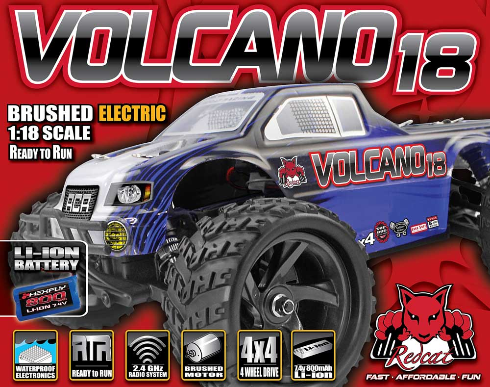 Redcat Racing Volcano 18 Electric RC Monster Truck Box Image