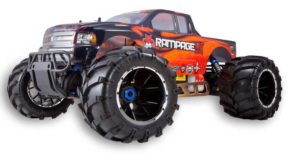 Redcat Racing Rampage MT Gas RC Monster Truck Orange Flame Body Style Image