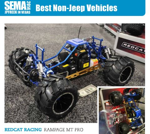Redcat Racing Rampage MT Pro Wins Honors At 2014 SEMA Show - JPFreek Magazine